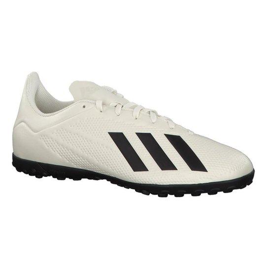 Chuteira Society Adidas X Tango 18 4 TF - Branco e Preto - Compre ... b4c706ff31eed