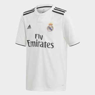 Camisa Real Madrid Infantil Home 2018 s n° - Torcedor Adidas 3a55f87b03ac1