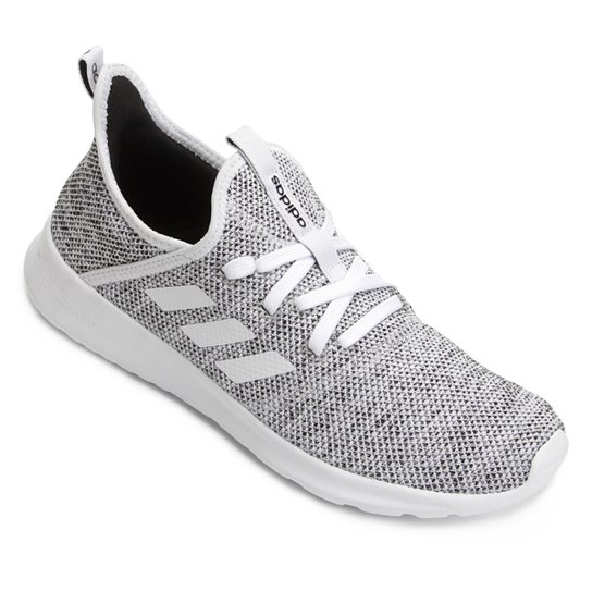 2a5418cce Tênis Adidas Cloudfoam Pure W Feminino - Branco e Preto - Compre ...