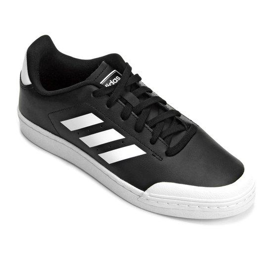 b086da4fc167a Tênis Adidas Retro Court Wild Card Masculino - Branco e Preto ...