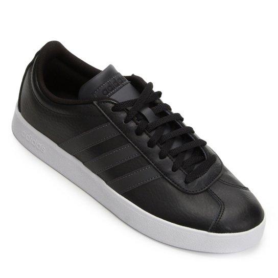 f9596337c5351 Tênis Adidas VL Court 2.0 Masculino - Preto e Branco - Compre Agora ...