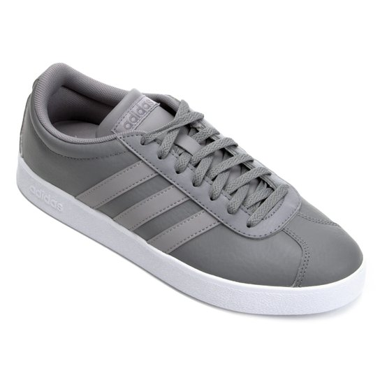 33d551d5cff Tênis Adidas Vl Court 20 Masculino - Cinza - Compre Agora