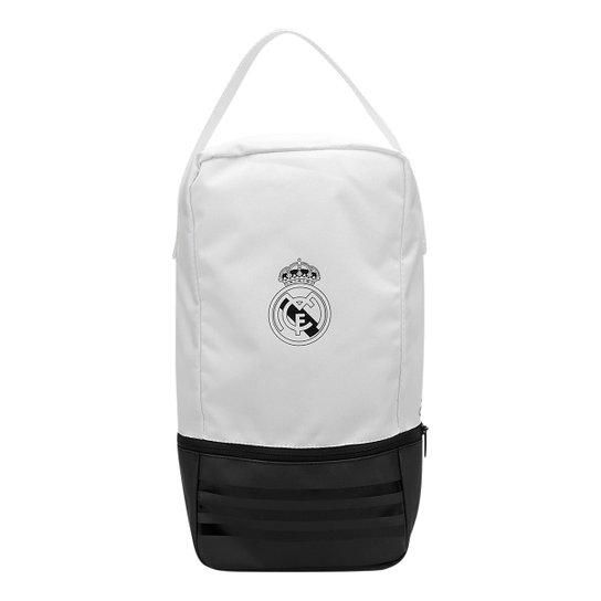 79d0f6a68 Bolsa Porta-Chuteira Real Madrid Adidas - Branco+Preto