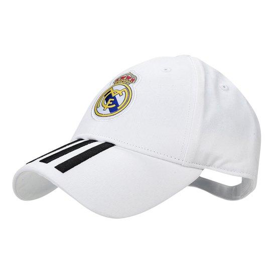 Boné Adidas Real Madrid 3Stripes Aba Curva - Compre Agora  f0d9b251501