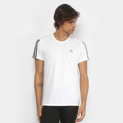 Camiseta Adidas Run 3Stripes Masculina