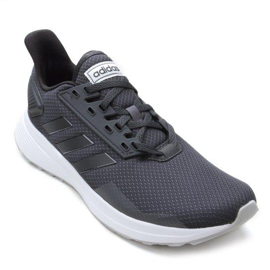 7736100040 Tênis Adidas Duramo 9 Feminino - Cinza e Preto - Compre Agora