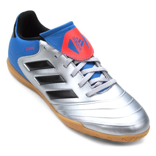 2998a32ce6 Chuteira Futsal Adidas Copa Tango 184 IN - Cinza e Preto | Netshoes