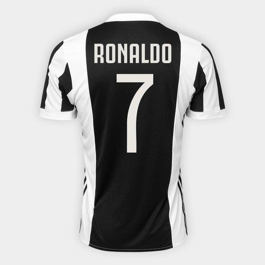 9e06e310bd742 Camisa Juventus Home 17 18 nº 7 Ronaldo - Torcedor Adidas Masculina -  Branco+
