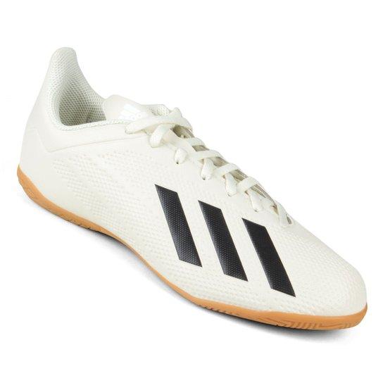 ee01306a54f Chuteira Futsal Adidas X Tango 18 4 IN - Branco e Preto - Compre ...