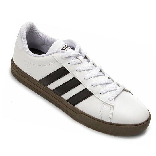 fa43b48cdc4 Tênis Adidas Daily Masculino - Branco e Preto - Compre Agora