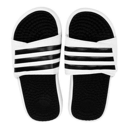 9414ef841 Chinelo Adidas Slide Adissage - Branco e Preto | Netshoes