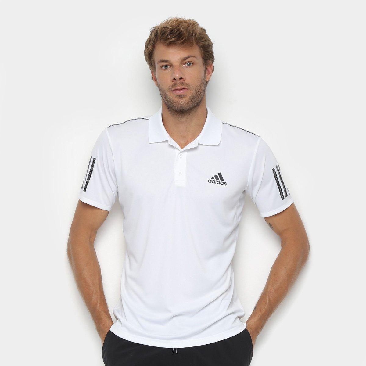de8c5ceeb10 Camisa Polo Adidas Club 3 Stripes Masculina