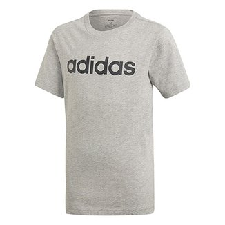 1faa3eb59 Camiseta Infantil Adidas Estampa Logo YB LIN TEE Masculina