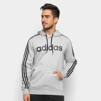 afc3d33036b Moletom Adidas Estampa Logo E 3S PO FL Masculino