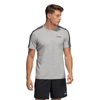 4a1e36b2b9203 Camiseta Adidas Eseentials 3-Stripes Masculina