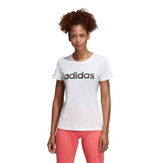 646127f9689 Camiseta Adidas Estampa Logo Slim Feminina