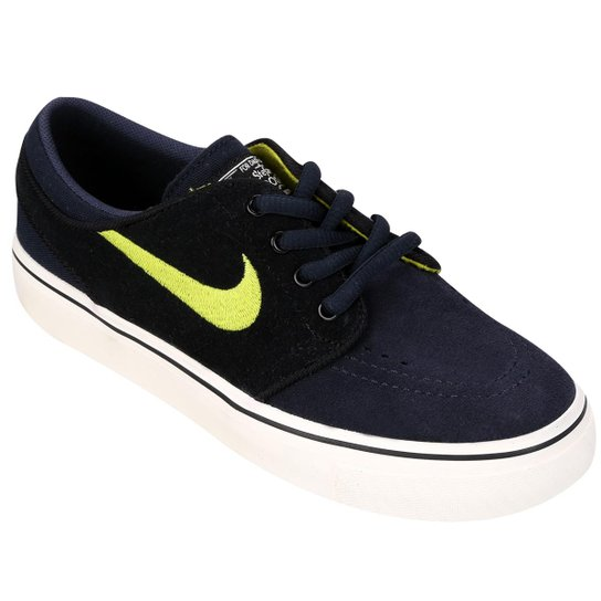 buy online 2619e f8d4e Tênis Nike Stefan Janoski Infantil - Preto+Verde Limão