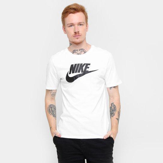 8f65a3e004478 Camiseta Nike Futura Icon - Branco e Preto - Compre Agora
