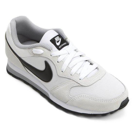 4f17bf5f1f962 Tênis Nike Md Runner 2 Feminino - Gelo e Preto | Netshoes