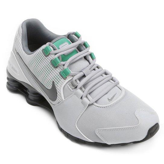 5a83bbfb2ab tenis nike shox cinza e verde