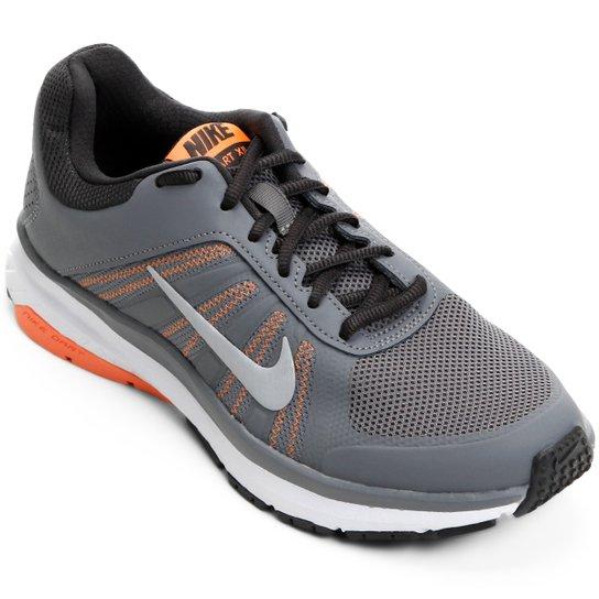 12fd95f4720d8 Tênis Nike Dart 12 MSL Feminino - Cinza e Laranja - Compre Agora ...