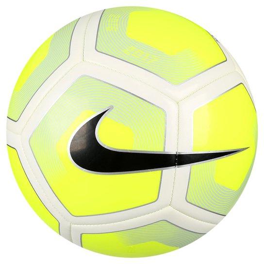 Bola Futebol Nike Pitch Campo - Branco+Amarelo 40c3ce2ee9215