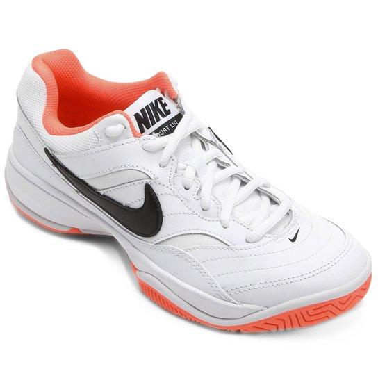 8ff2c68f8b Tênis Nike Wmns Nike Court Lite Feminino - Branco e Salmão - Compre ...