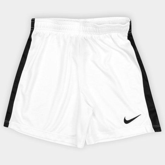 Calção Infantil Nike Dry Academy - Branco e Preto - Compre Agora ... 83fdce1078f5d