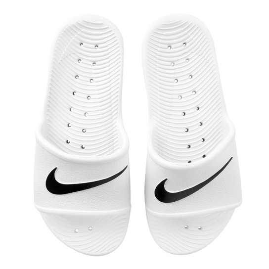 14b22f5db5a1 Sandália Nike Wmns Kawa Shower Feminino - Branco e Preto - Compre ...