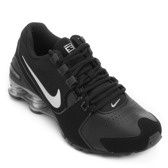 1075673c4b9 Tênis Couro Nike Shox Avenue LTR Masculino - Preto - Compre Agora ...