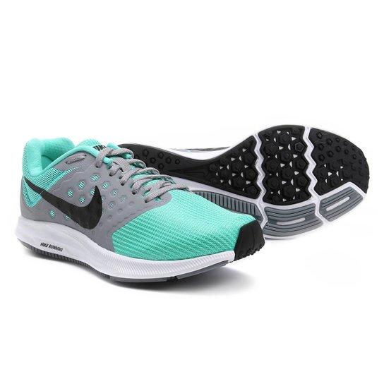 b904337ef Tênis Nike Downshifter 7 Feminino - Cinza e Verde Água | Netshoes