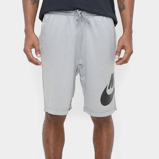 Bermuda Nike SB Dry Reta Masculina - Cinza e Preto - Compre Agora ... 8edd53fd9c3