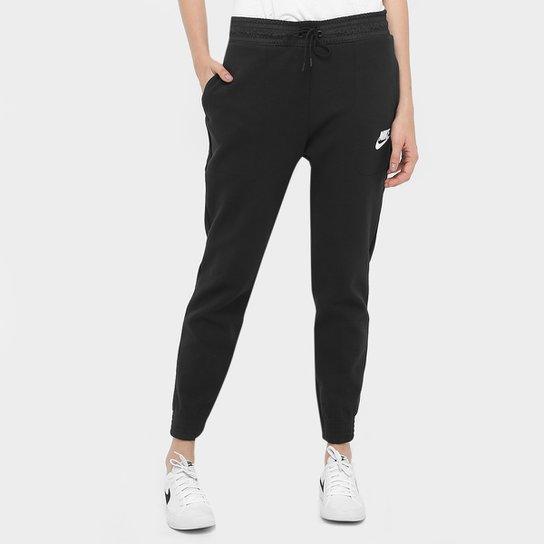 cecbd010a3 Calça Moletom Slim Nike Av15 Pant Flc Feminina - Compre Agora