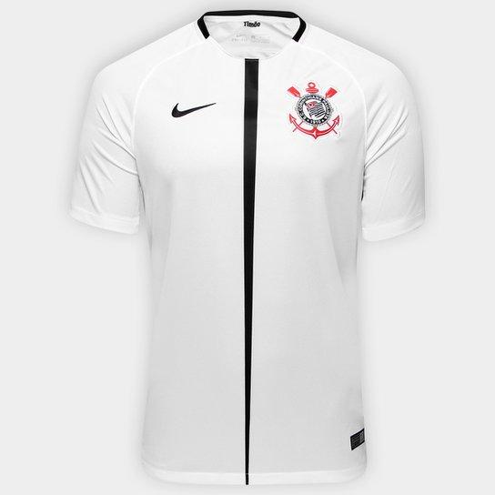 ec7a495d1d Camisa Corinthians I 17 18 s nº Torcedor Nike Masculina - Branco+Preto