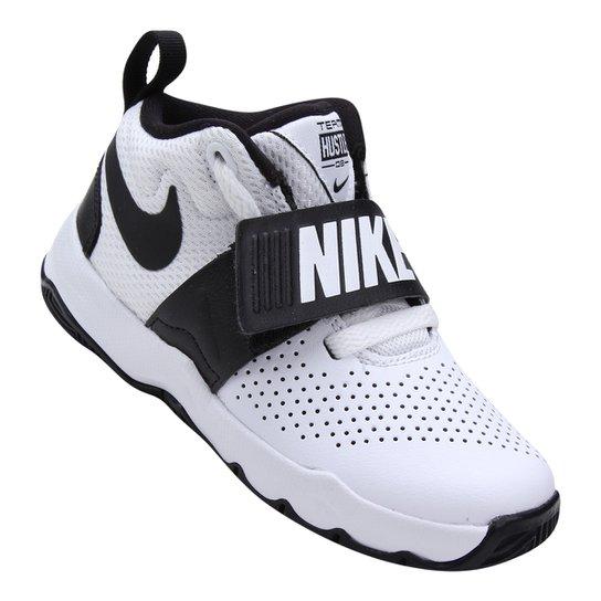 e4c8411a1aa Tênis Infantil Nike Team Hustle D 8 Masculino - Branco e Preto ...