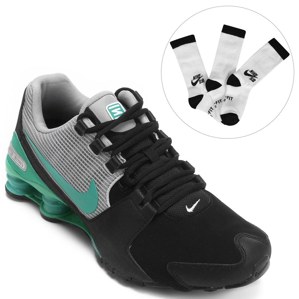 Kit Tênis Nike Shox Avenue Ltr + Pack Meia Nike SB Crew Sock 3 Pares M e848697c071