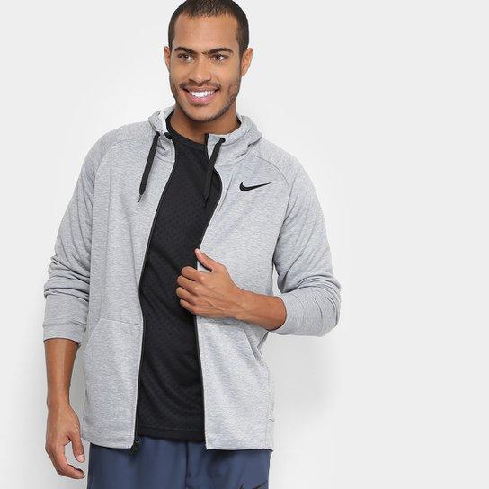 9912471cd9f Jaqueta Nike Dry Hoodie Fz Fleece Masculina - Cinza e Preto - Compre ...
