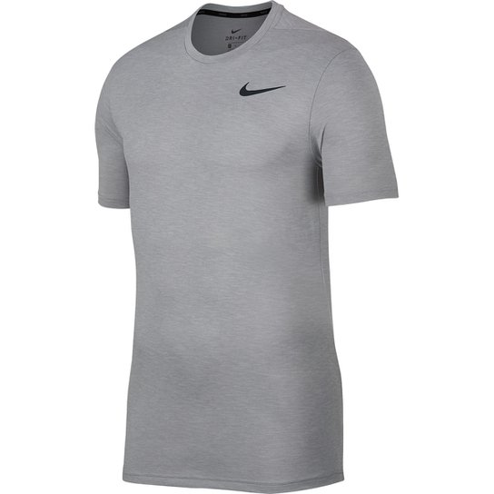 Camiseta Nike Breathe Ss Hyper Dry Masculina - Cinza e Preto ... ca7c6da82bedf