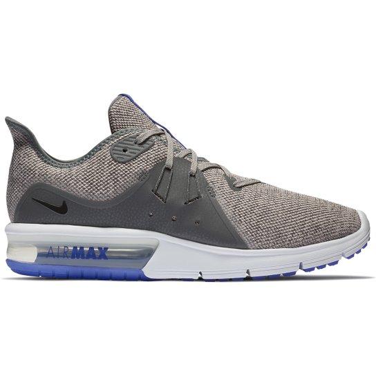 1e30727d7bb53 Tênis Nike Air Max Sequent 3 Masculino - Cinza e Preto - Compre ...