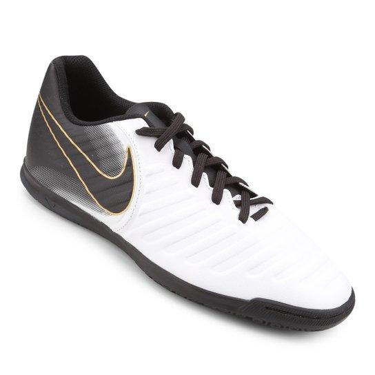 416aeaa3c7a99 Chuteira Futsal Nike Tiempo Legend 7 Club IC - Branco e Preto ...