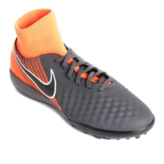 Chuteira Society Nike Magista Obra 2 Academy Dinamic Fit - Cinza e ... 4be4a74e18d15