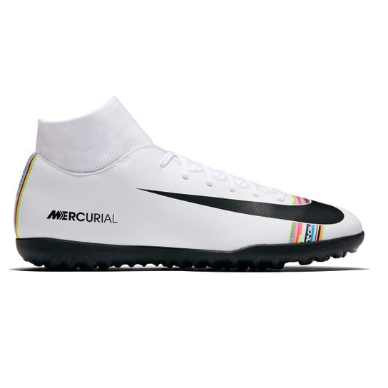 459e20b89076c Chuteira Society Nike Mercurial Superfly 6 Club CR7 TF - Branco+Preto