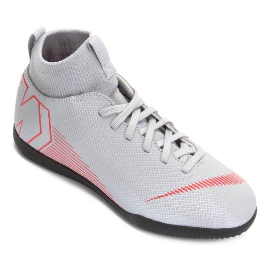4950e9b992 Chuteira Futsal Infantil Nike Mercurial Superfly 6 Club - Cinza+Preto