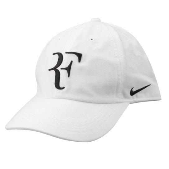 fd45b96156c30 Boné Nike Aba Curva Aerobill Federer H86 - Branco e Preto - Compre ...