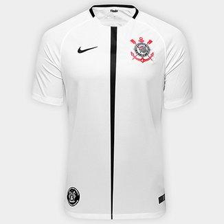 4fef109508 Camisa Corinthians I 17 18 S Nº Torcedor Nike - Patch Nunca Foi Fácil