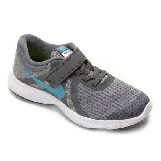 0748ab88428 Tênis Infantil Nike Revolution 4 Masculino - Cinza e Azul - Compre ...