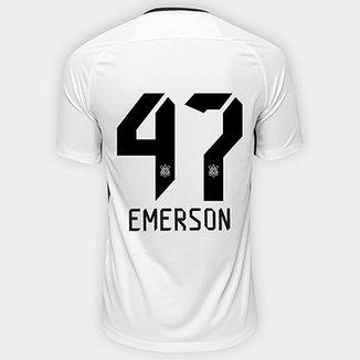 d6ff880a59 Camisa Corinthians I 17 18 nº 47 Emerson - Torcedor Nike Masculina