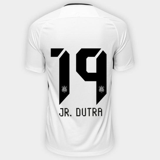 Camisa Corinthians I 17 18 nº 19 Jr. Dutra - Torcedor Nike Masculina ... e009b3d27a37a