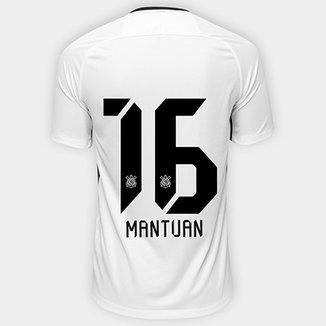 0427bcebbf Camisa Corinthians I 17 18 nº 16 Mantuan - Torcedor Nike Masculina