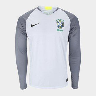 6b9f15cb0699d Camisa Seleção Brasil Goleiro 2018 s n° Torcedor Nike Masculina